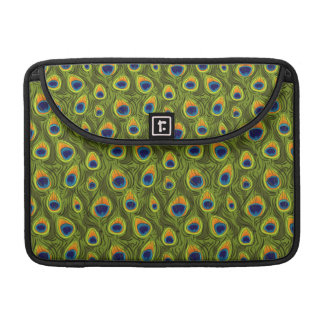 Pretty Peacock Feathers Pattern Sleeves For MacBook Pro