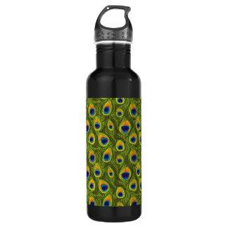 Pretty Peacock Feathers Pattern Stainless Steel Water Bottle