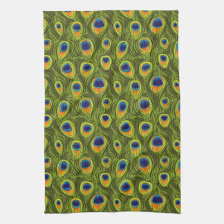 Pretty Peacock Feathers Pattern Towel