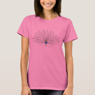 Pretty Peacock Painting Tee Shirts for Women