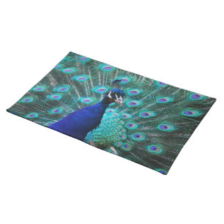 Pretty Peacock Placemat Cloth Place Mat