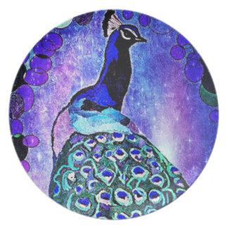 Pretty Peacock Plate by Carol Zeock