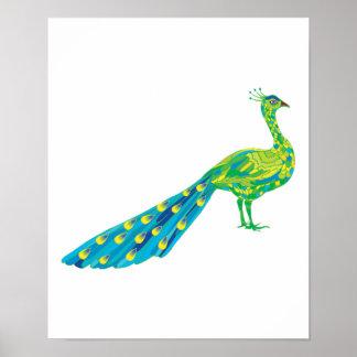 pretty peacock print