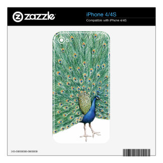 Pretty Peacock Skin For iPhone 4S