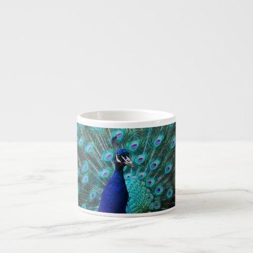 Pretty Peacock Specialty Mug 6 Oz Ceramic Espresso Cup