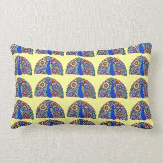 Pretty Peacock Tiled Oblong Pillow