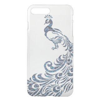 Pretty peacock tribal modern vintage bird clear iPhone 7 plus case