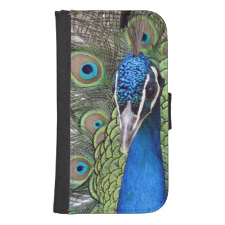 Pretty Peafowl Galaxy S4 Wallet Cases