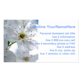 Pretty Pear Blossoms Double-Sided Standard Business Cards (Pack Of 100)