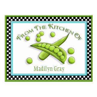 Pretty Peas Recipe Cards