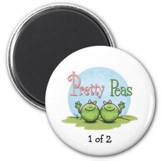Pretty peas - veggies twin girls 2 inch round magnet
