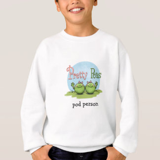 Pretty peas - veggies twin girls sweatshirt