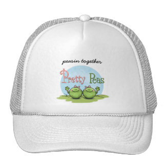 Pretty peas - veggies twin girls trucker hat