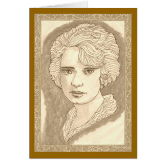 Pretty Peggy Greeting Card