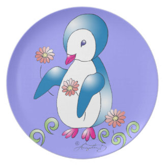 Pretty Penguin Party Plate