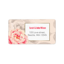 Pretty Peonies Modern Floral address label