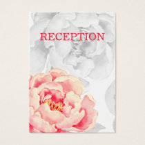 Pretty Peonies Modern Floral  reception invite