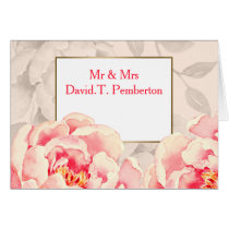 Pretty Peonies Modern Floral wedding Place Cards