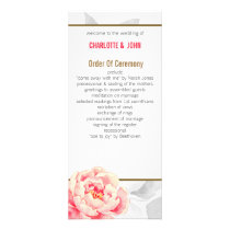 Pretty Peonies Modern Floral wedding programs
