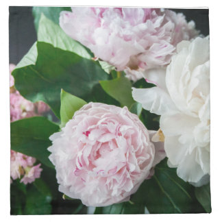Pretty Peonies Pastel Bouquet Cloth Napkin