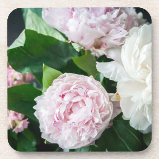 Pretty Peonies Pastel Bouquet Coaster