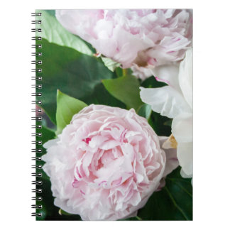 Pretty Peonies Pastel Bouquet Spiral Notebook
