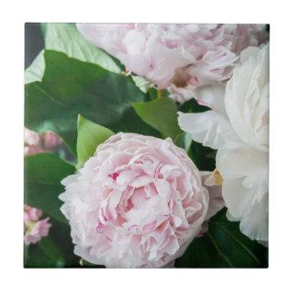 Pretty Peonies Pastel Bouquet Tile