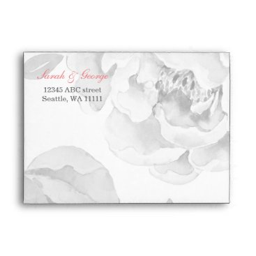 Pretty Peony Floral Liner wedding envelope