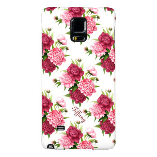Pretty Peony Floral Samsung Galaxy Note 4 Case