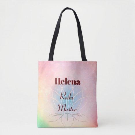 Pretty personalised Reiki Master design Tote Bag