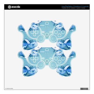 Pretty Personalizable Shades of Blues PS3 Controller Skin