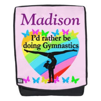 PRETTY PERSONALIZED AWESOME GYMNAST BACK PACK