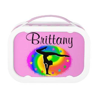 Pretty Personalized Gymnastics Lunchbox at Zazzle