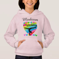 PRETTY PERSONALIZED I LOVE GYMNASTICS HOODIE