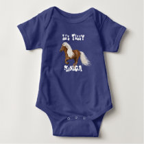 """Pretty Personalized """"Little Filly"""" Baby Bodysuit"""