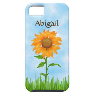 Pretty Personalized Orange Sunflower iPhone 5 Case