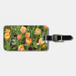 Pretty Personalized Orange Tulip Field Tag For Bags
