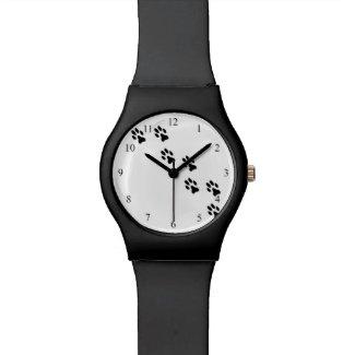 Pretty Pet Paw Prints Wrist Watch