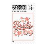 Pretty Petal Pink 09 Bride Postage Stamps