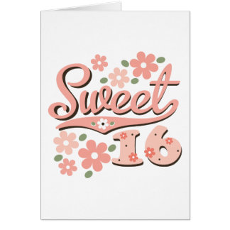 Pretty Petal Sweet 16 Greeting Card