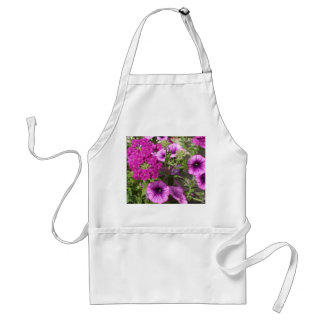 Pretty Petunias and Flowers Adult Apron