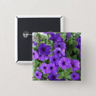 Pretty Petunias Pinback Button