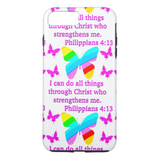 PRETTY PHILIPPIANS 4:13 BUTTERFLY DESIGN iPhone 8 PLUS/7 PLUS CASE