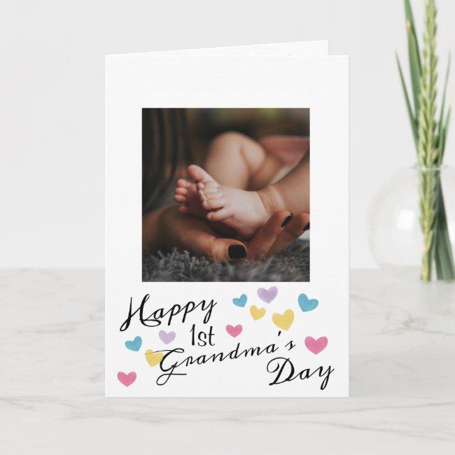 Pretty Photo 1st Grandma's Day Card