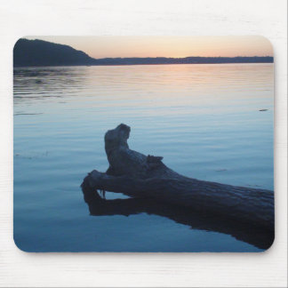 Pretty Photo of a log floating on the Mississippi Mouse Pad