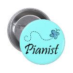 Pretty Pianist Button For Piano Lovers