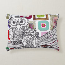 Pretty Picture Owls Decorative Pillow