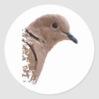 Pretty Pigeon Round Stickers