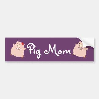Pretty Piggy Pig Mom Bumper Sticker