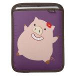 Pretty Piggy (purple) Sleeve For iPads